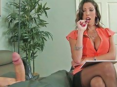 Nasty Mommy Dava Foxx Gets Poked Hard After Giving Fotjob