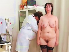 Watch Her Mature Pap Smear In Close Up