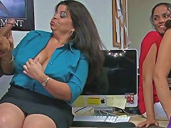Curvy Office Babes Sucking Strippers Dick Segment