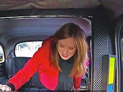 Horny Babe Gets Facial In Fake Taxi