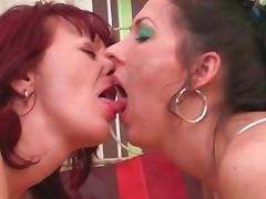 Mature Lesbians Kissing Sensually