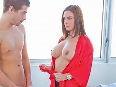 Sexy Mommy Abby Cross Irons His Shirt And Then His Dick