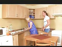 Mature Blonde Mom Fucked By Young Guy In Kitchen Porn A6