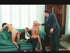 Big Tit Brunette Wife Swaps Husbands With Her Girlfriend
