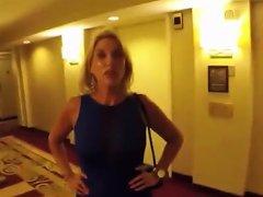 Public Cumwalk Through Hotel Lobby Nuvid