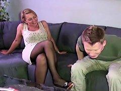 German Mother Jenny Seduce Huge Cock Friend Of Daughter Fuck Drtuber