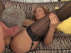 Mature Nicky Has Fun With A Dick