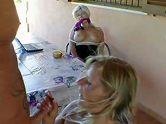 German Milf Step Sister Fucks His Bf And She Must Watch It