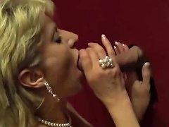 Lady Sonja Sucking Big Dick On The Glory Hole