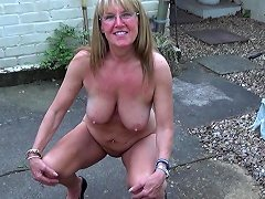 Full Back Knicker's Full Nude Stroll