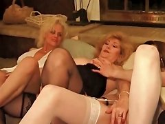 Orgy With Mature Babes Fucking Dick