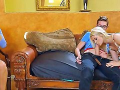 Teen Couple Seduce Mature Milf To Engage In A Threesome