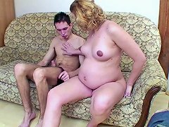 Shaved Preggo Mature Gets Destroyed By A Young Stallion
